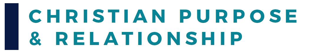 Christian Purpose Relationship Banner