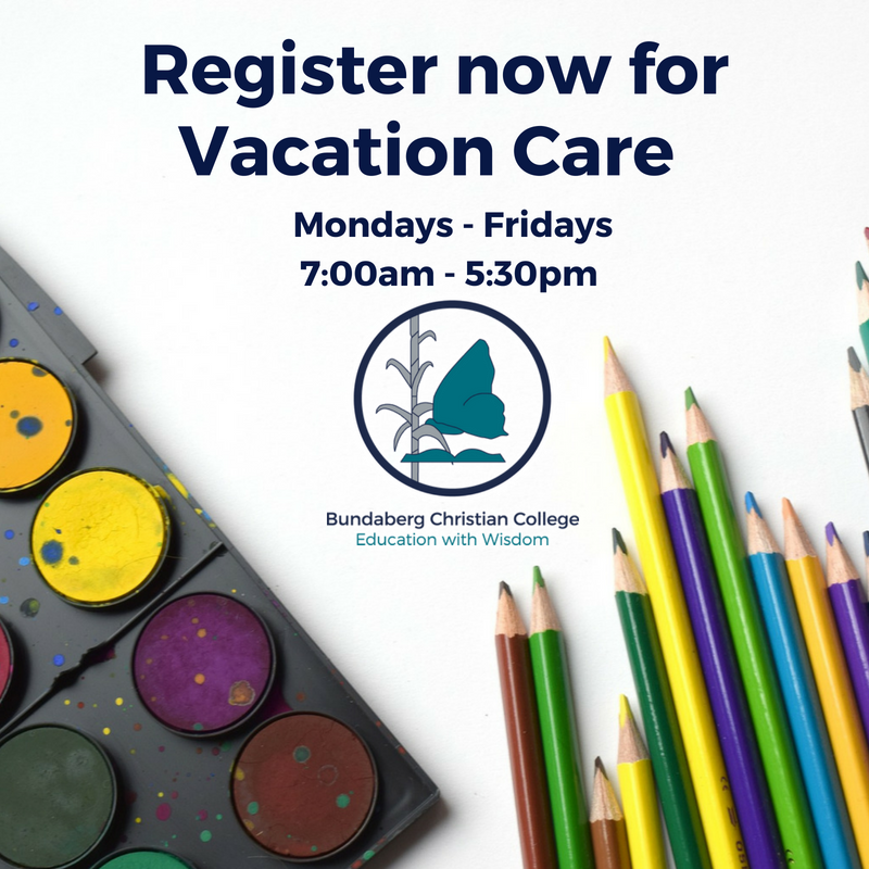 Vacation Care April 2020 Registration