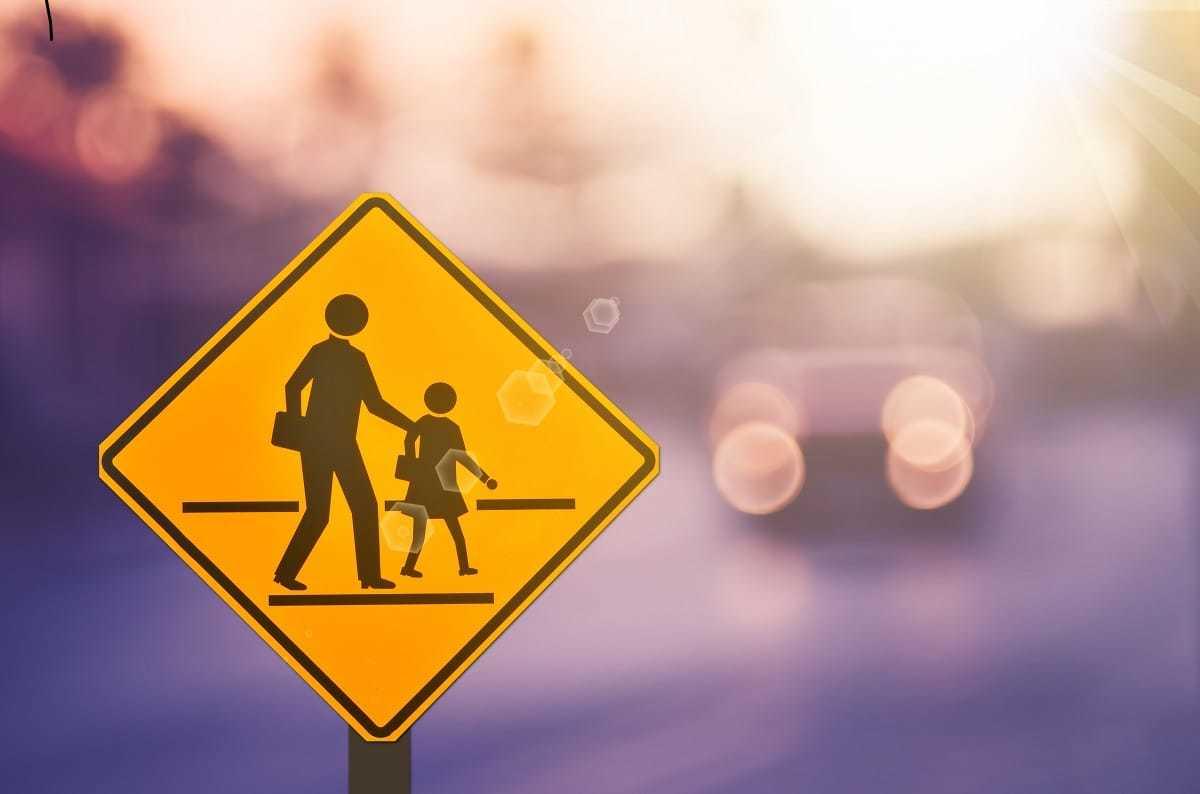 School Zone Pedestrian Crossing