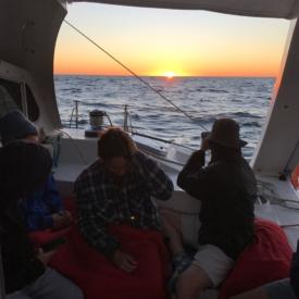 Sunrise Under Sail