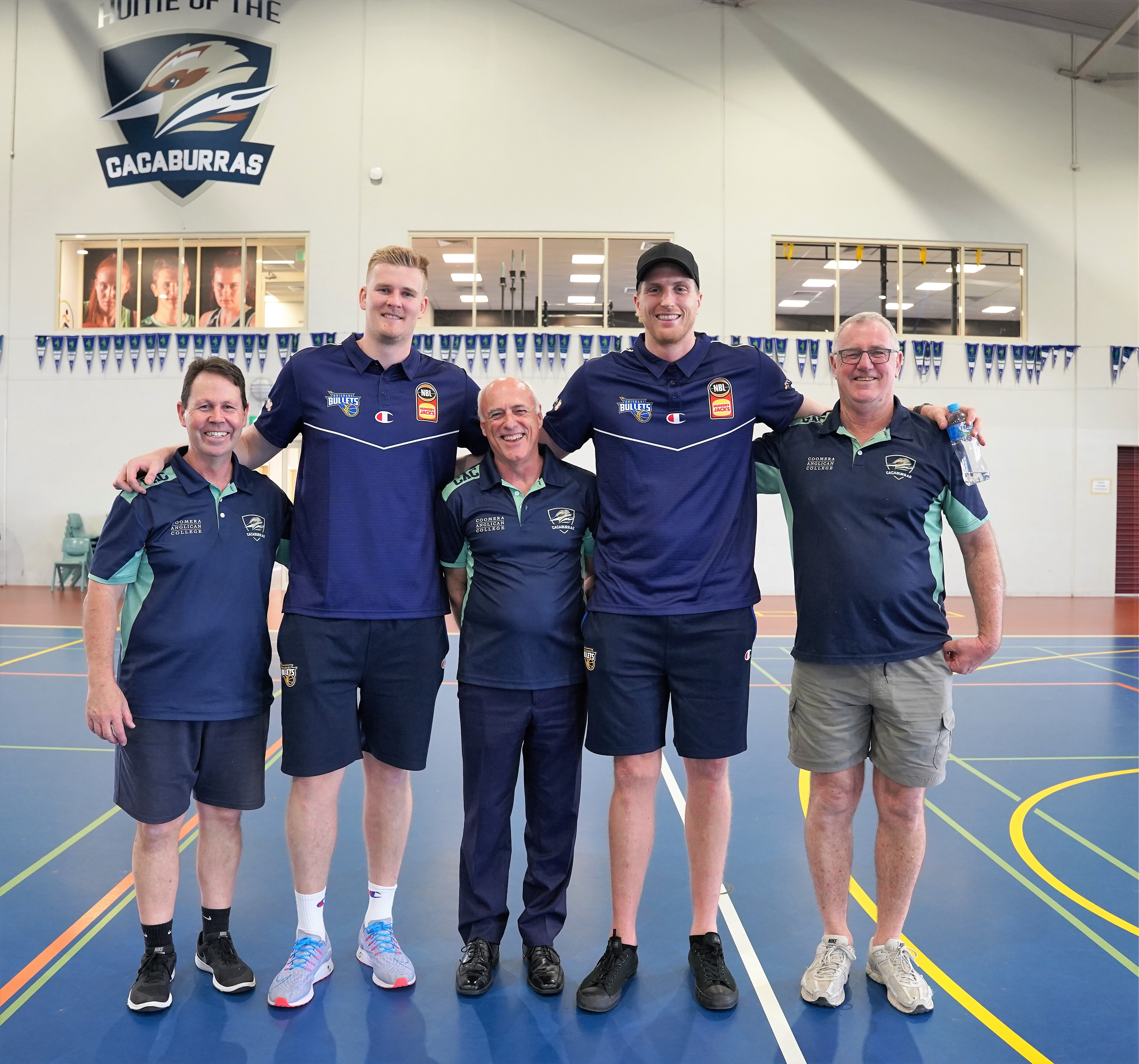 Brisbane Bullets - Coomera Anglican College - Basketball Partnership - Harry Froling and Matt Hodgson