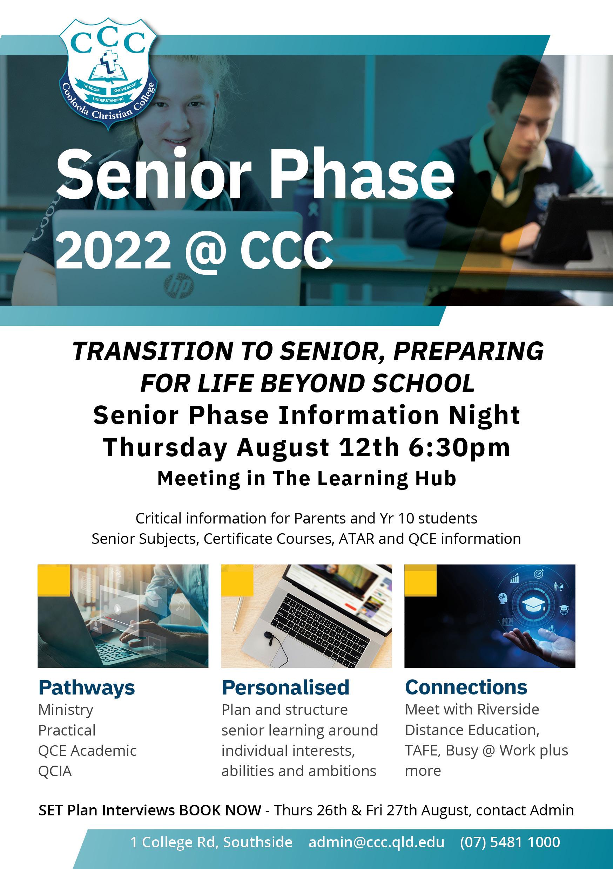 Senior Phase 2022 @ CCC