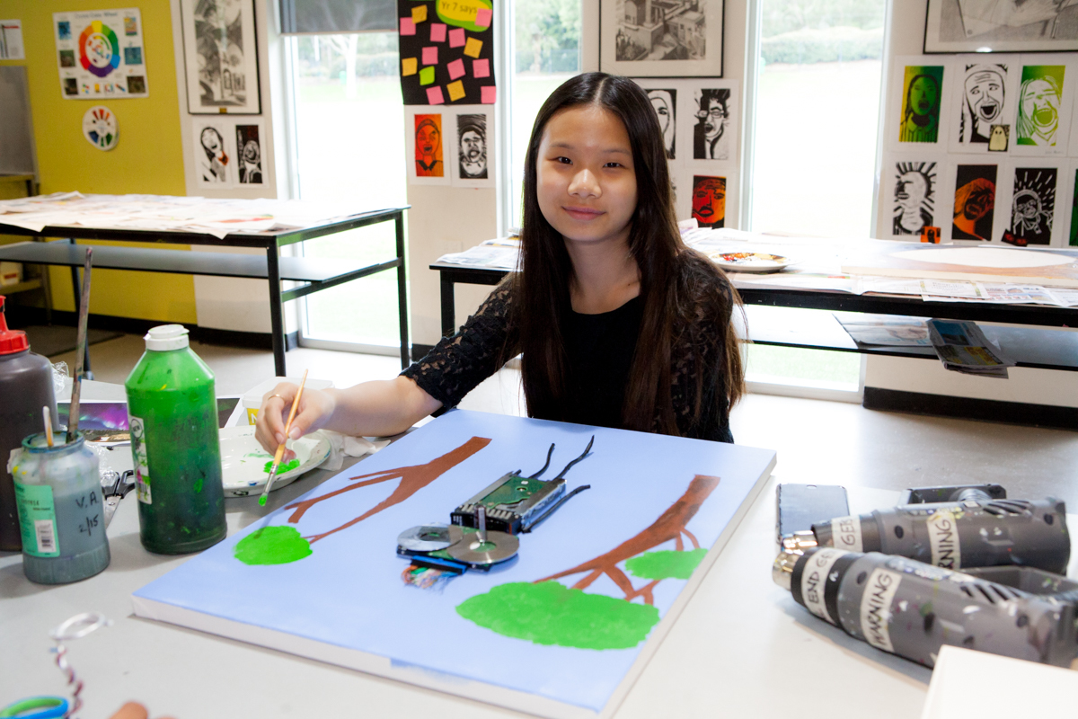 Secondary Art room provides light and modern learning space