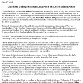 2018 Hawker Clayfield College Release 1