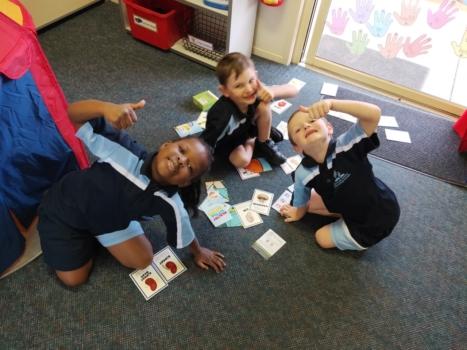 Prep Students On Floor