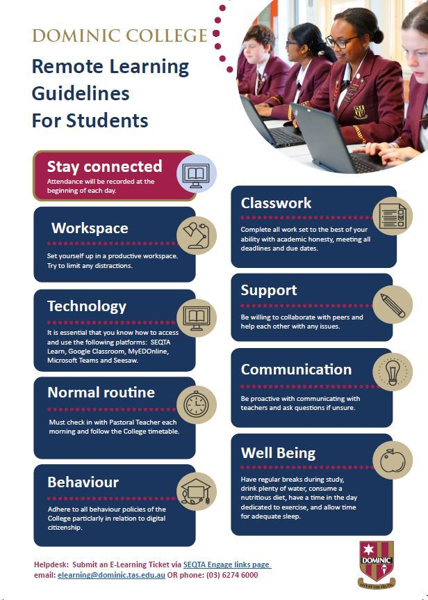 Online Learning Guidelines Students