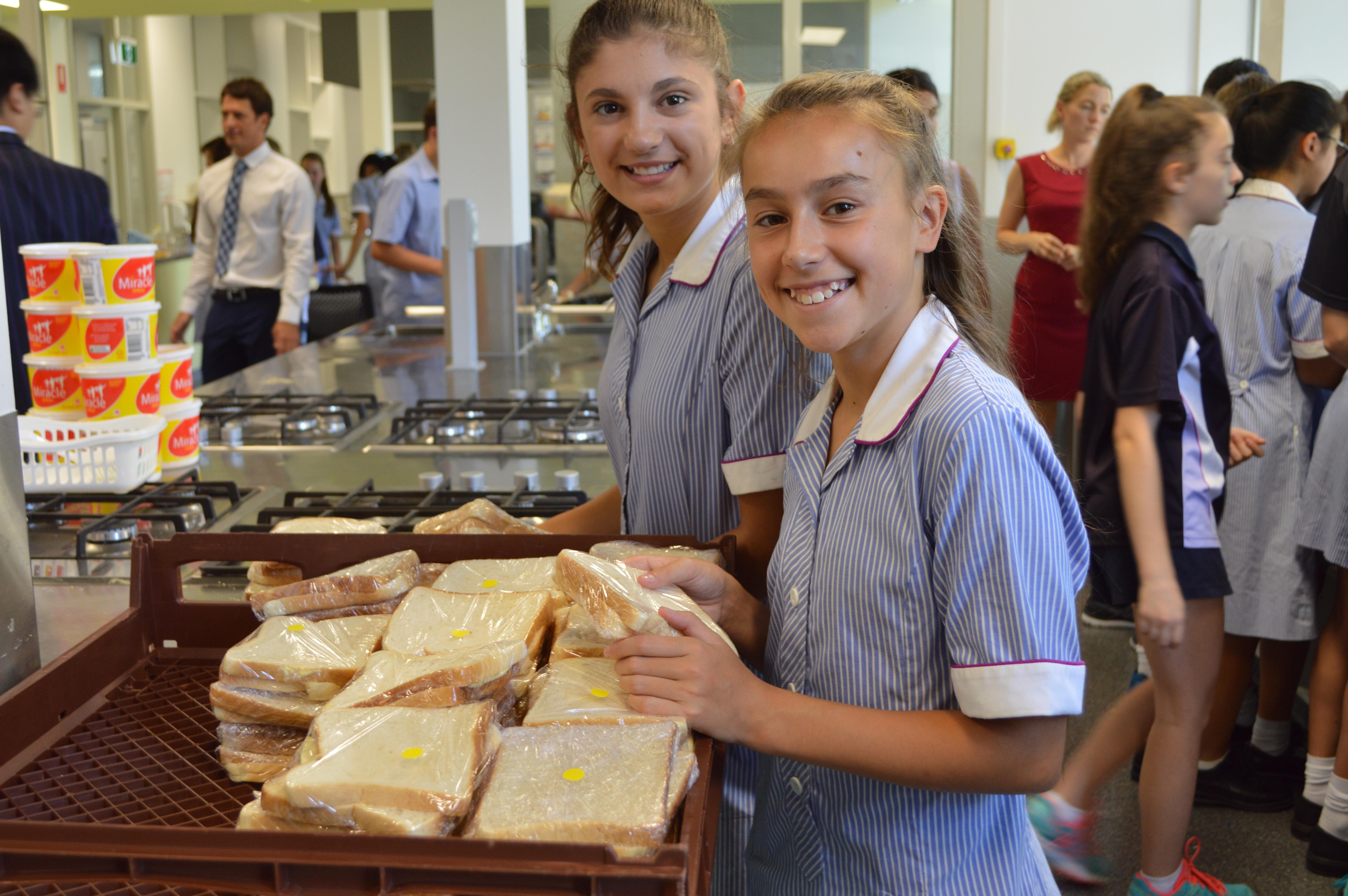 Making sandwiches for Eat Up Australia