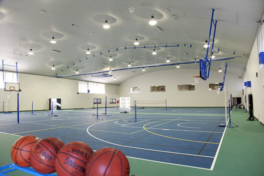 Gym Interior Basketballs