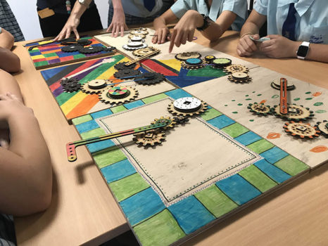 Simple Machines 2017 Pbl Colourful Cogs Hands
