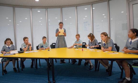 Debating Group Yellow Table