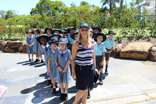 Teacher Leading Kids Gallery