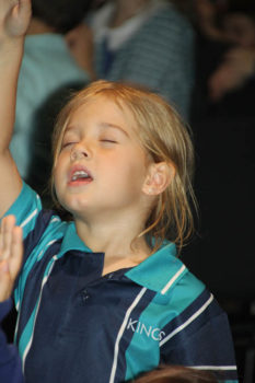 Young Girl Worshipping