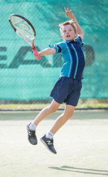 Primary Tennis Boy Portrait