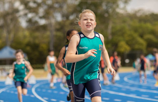 Running Girl Face On Primary