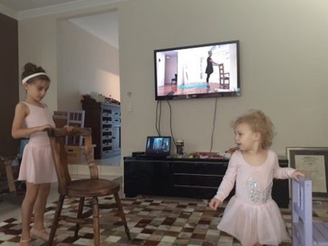 Ava Doing Level 1 Ballet Online Lesson With Miss Hayley