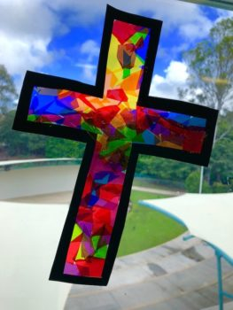 Coloured Cross At Kings