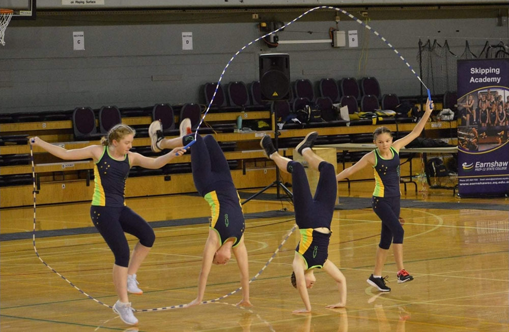 Bethany Lakeman and her team at the QLD State Skipping Championships