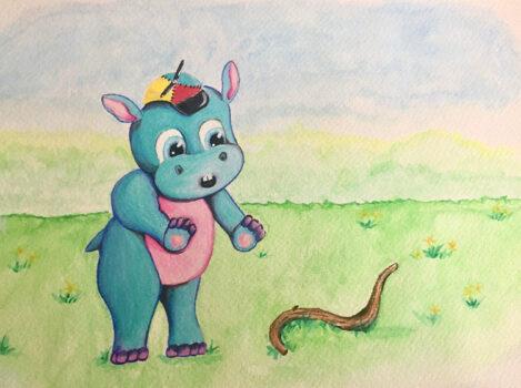 Hudson In A Hat Illustration 2