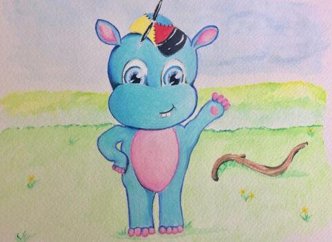 Hudson In A Hat Illustration 3
