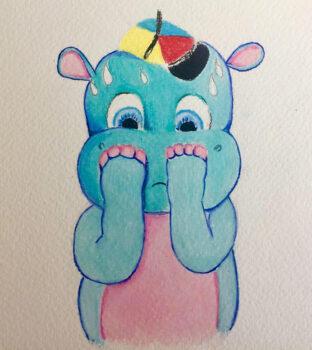 Hudson In A Hat Illustration 4