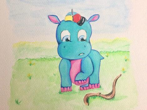 Hudson In A Hat Illustration 7