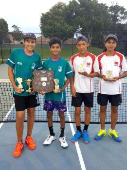 Middle School Boys Tennis Winners