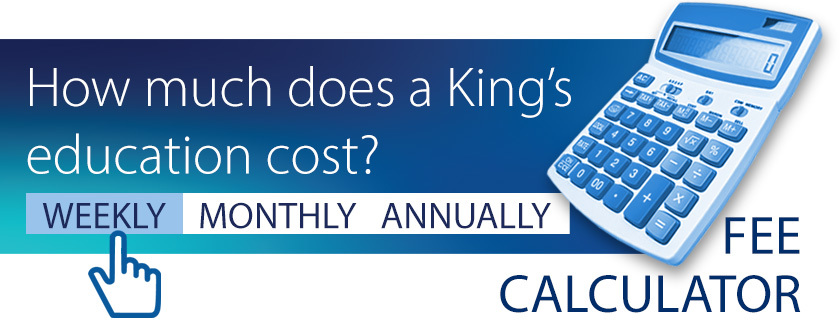 Click to calculate King's fees weekly, termly or annually