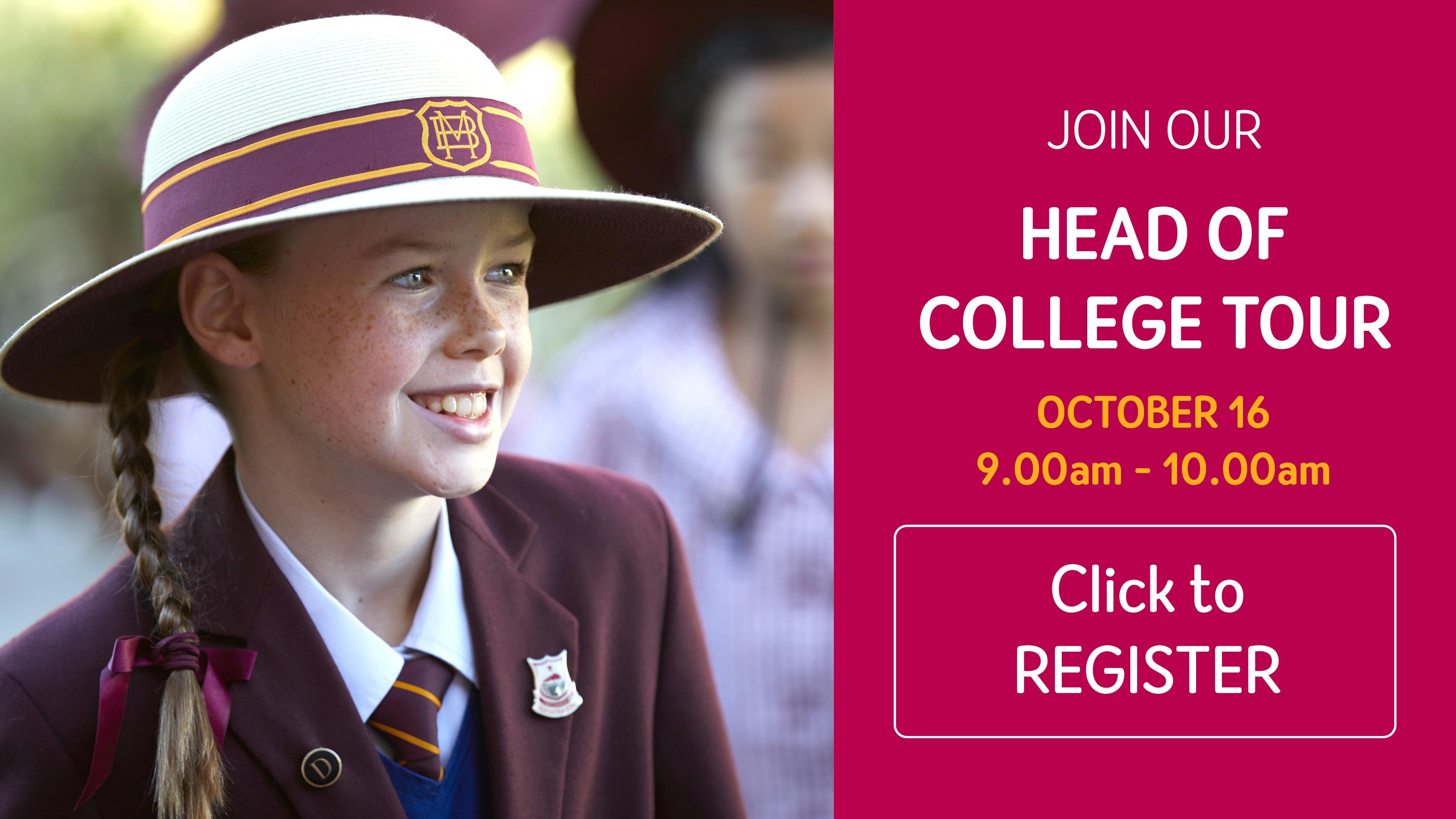 Head of College Tour