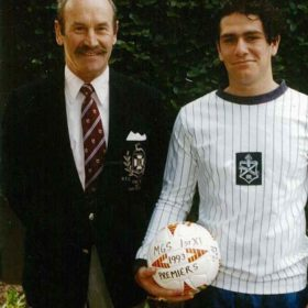 1993 George Xinos Capt 1st with Jonathan Carroll