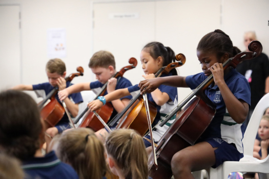 Northside Students Playing Cello