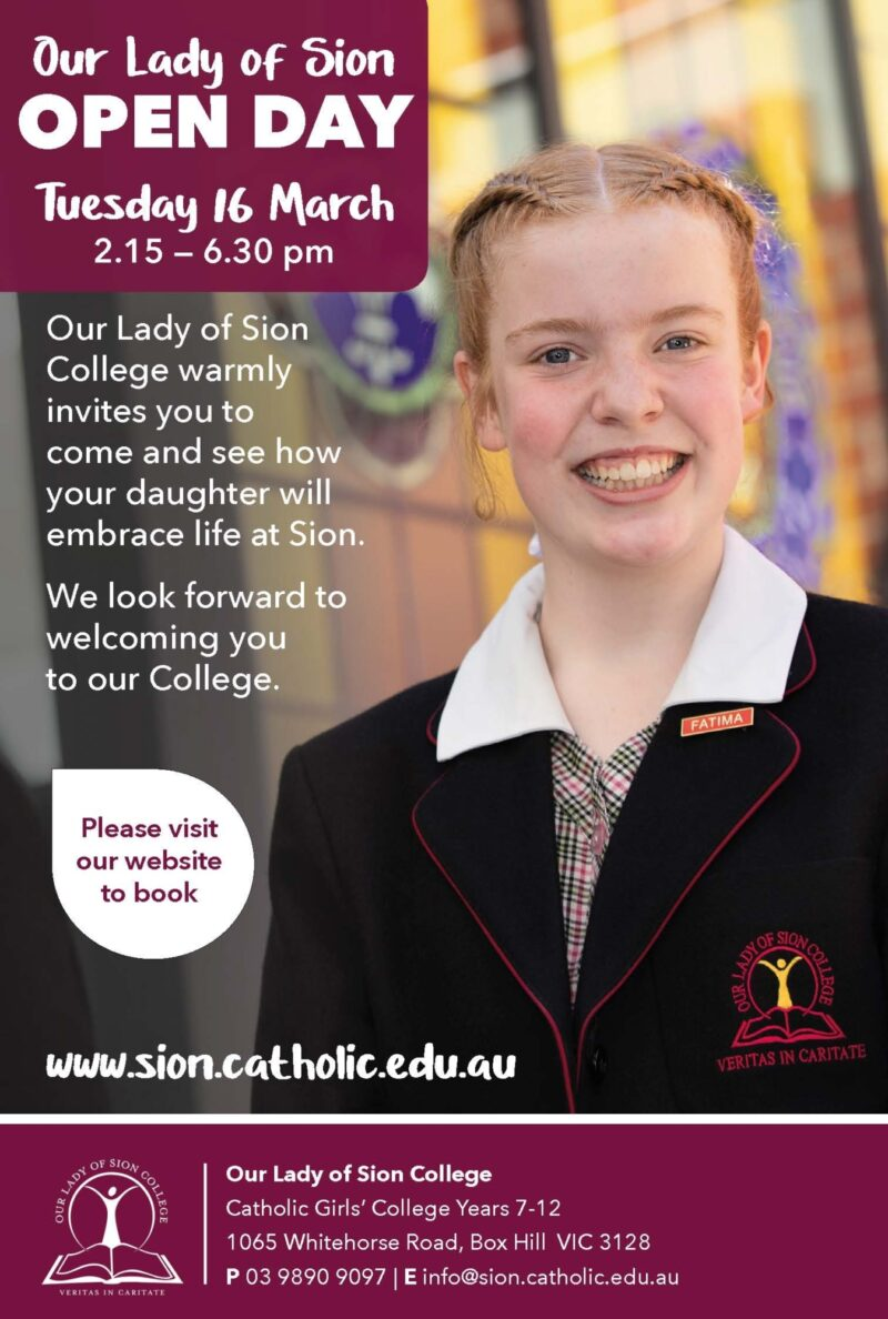 Open Day at Our Lady of Sion College 2021