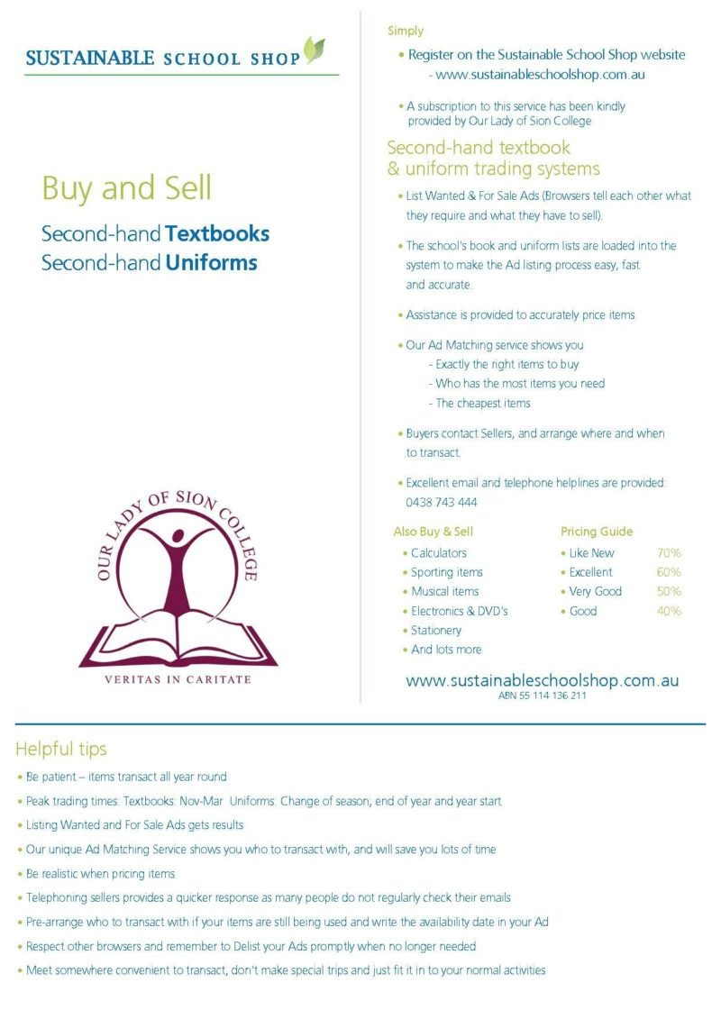 Secondhand Textbooks and Uniforms