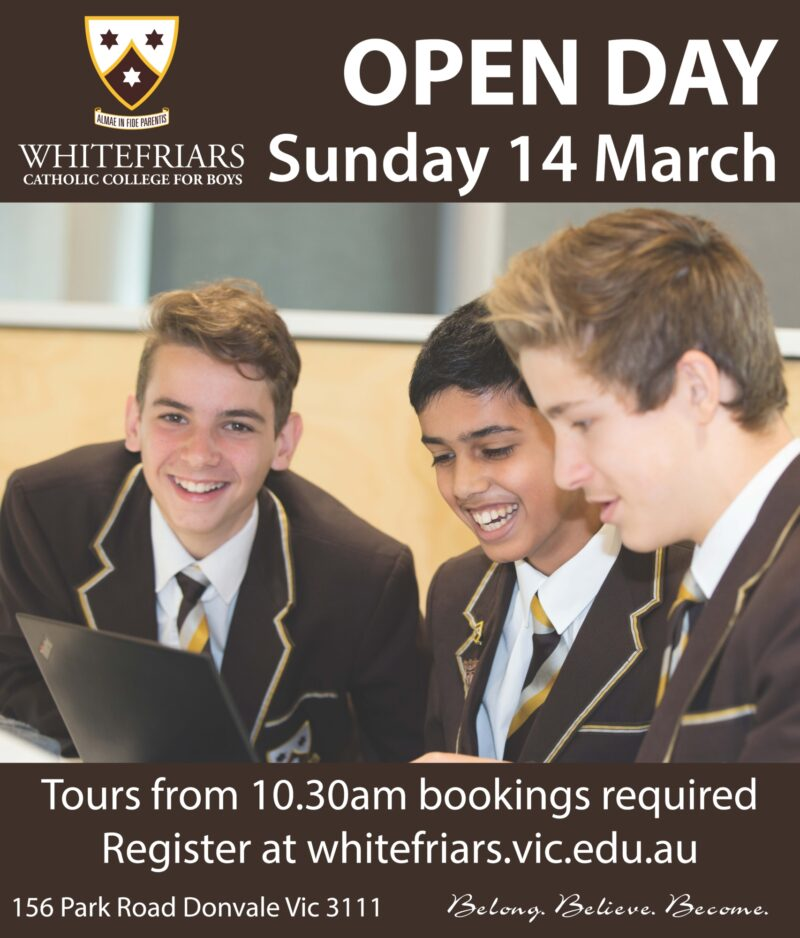 Whitefriars College Open Day 2021