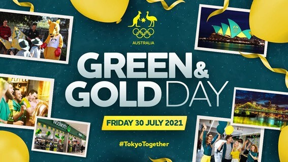 Green and Gold Day 30 July 2021
