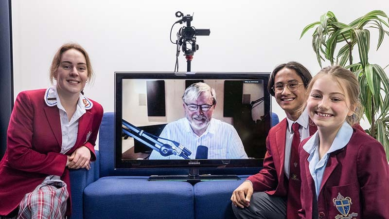 Students interview Kevin Rudd for Dirrum Festival 2021