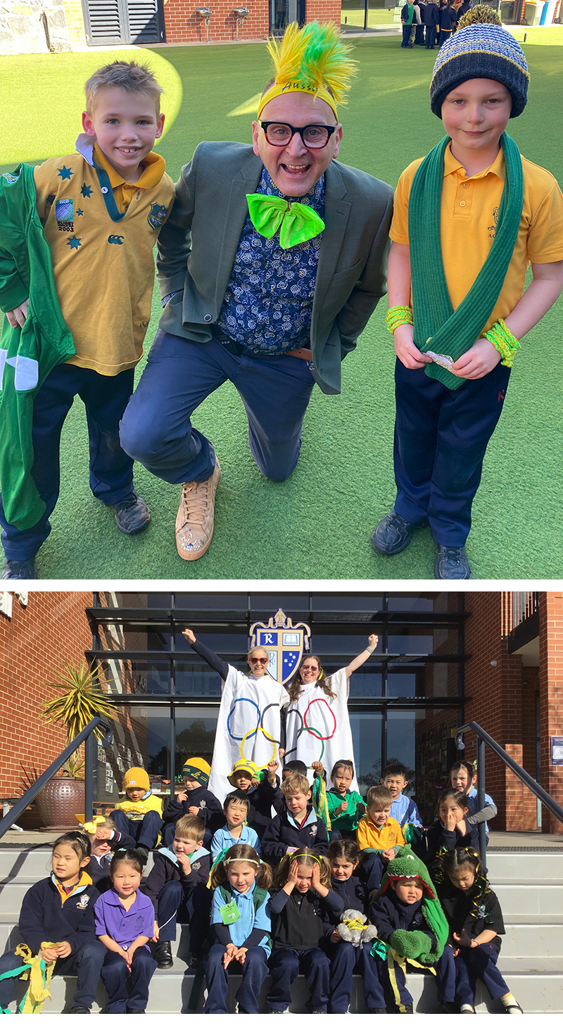 JS Green and gold day collage