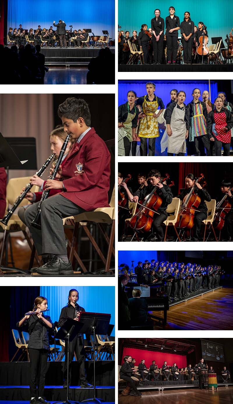 Winter Concert 2021 - collage