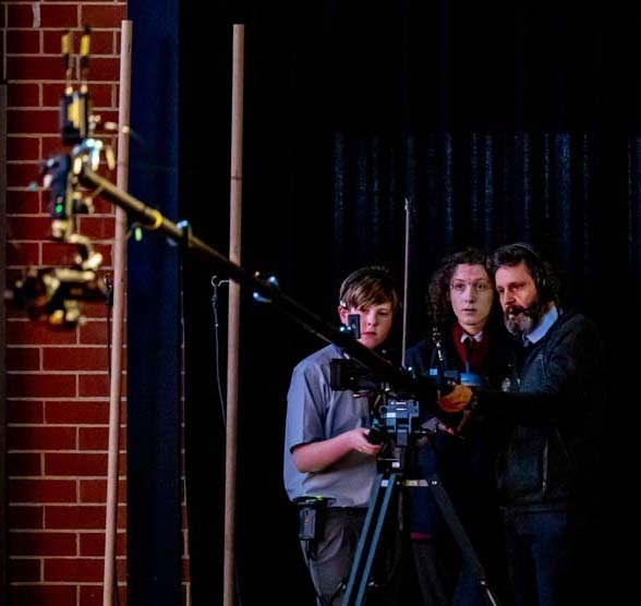 Tim Minehan and Media Crew at the Winter Concert 2021