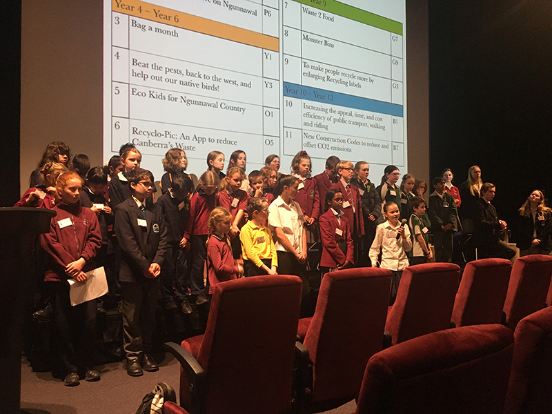 Parliament of Youth on Sustainability - presenting at the ACT Assembly
