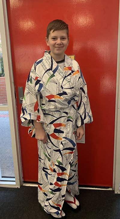 Student in national dress - Languages Week