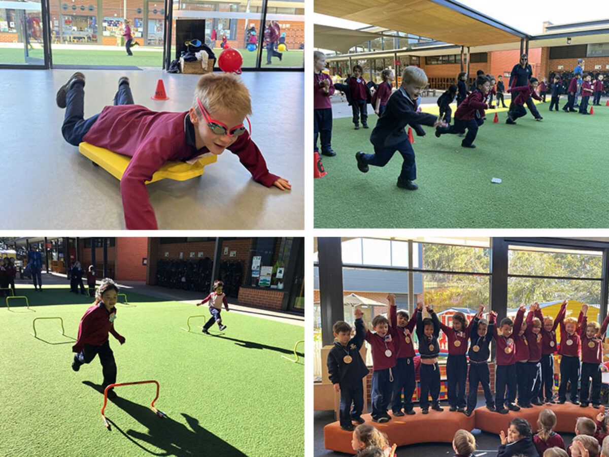 Kindy Olympics collage