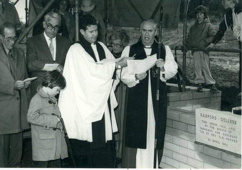 Laying of the Foundation Stone on 30 April 1983