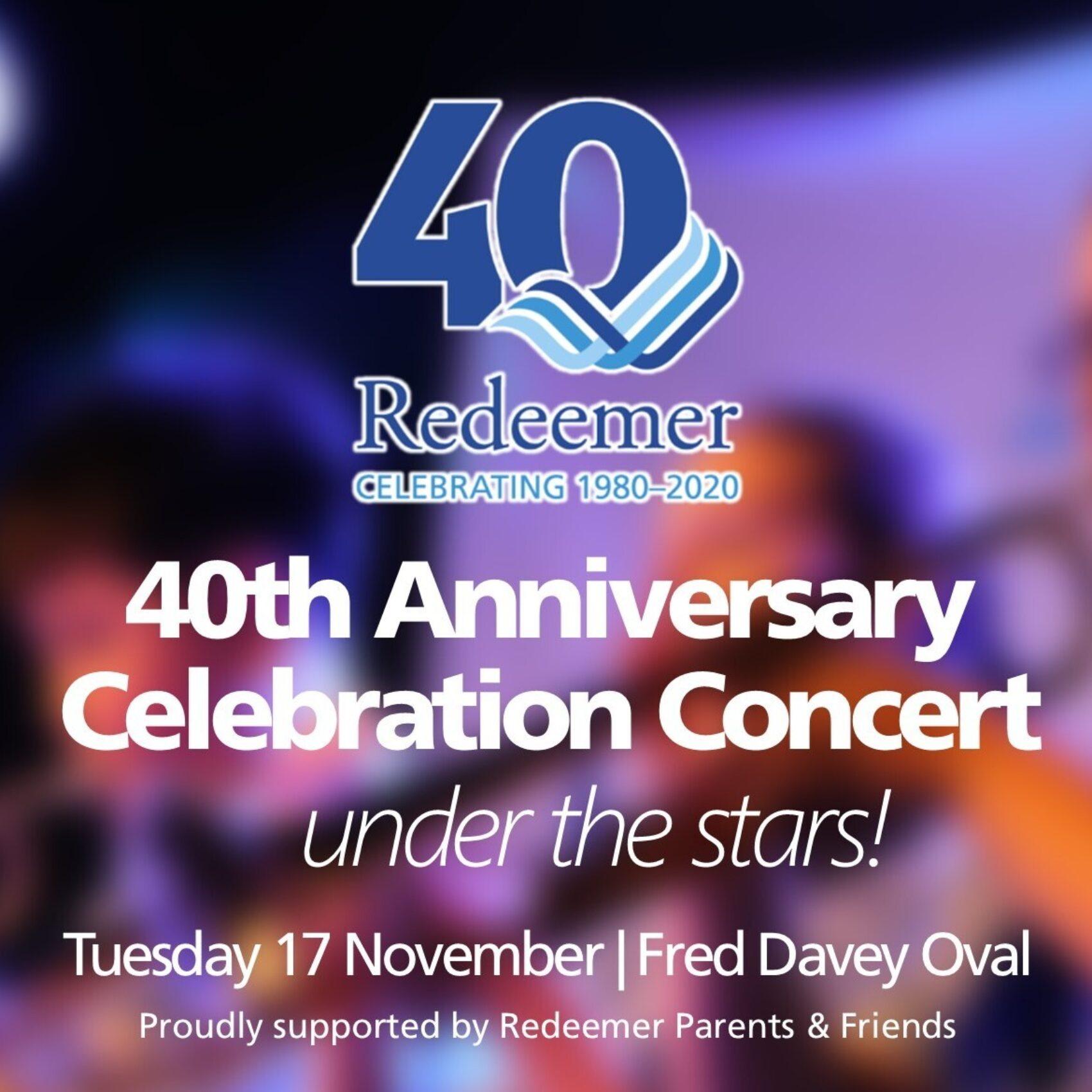 Redeemer's 40th Anniversary Celebration Concert – Under the Stars!