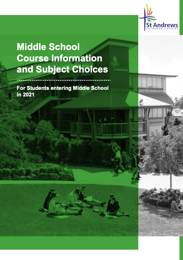 Middle School Course Information and Subject Choices 2021
