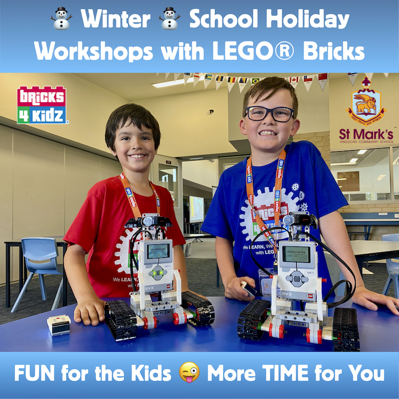 TUES 6 JULY - 9:00am-3:30pm BRICKS4KIDZ LEGO/ROBOTICS