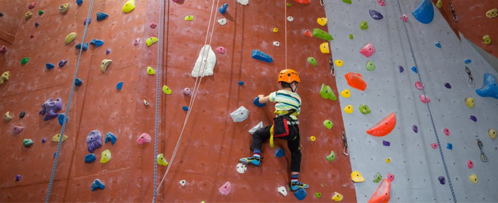Rock climbing with Helping Hands