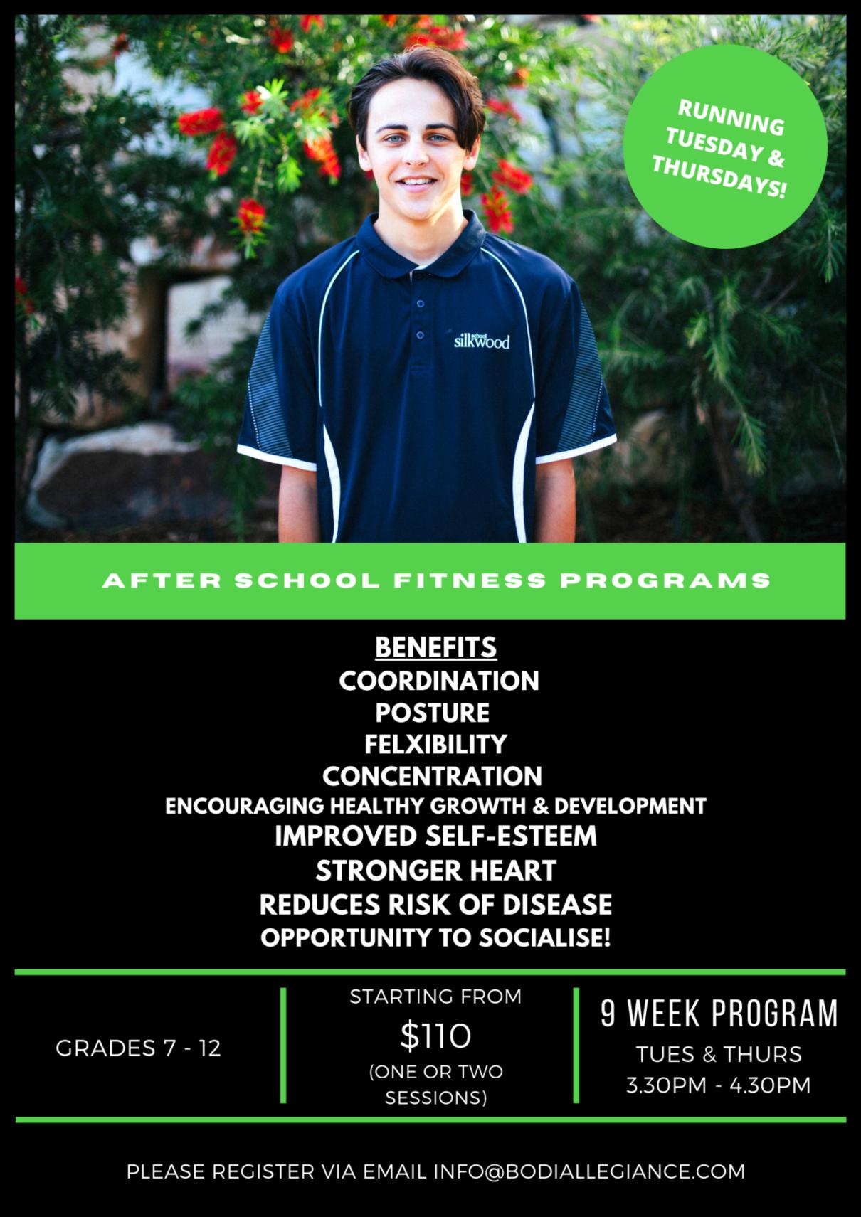 Bodi Allegiance High School Fitness Program - Silkwood School