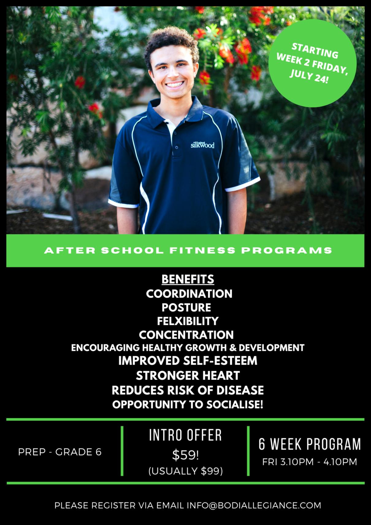 Bodi Allegiance Junior Fitness Program - Silkwood School