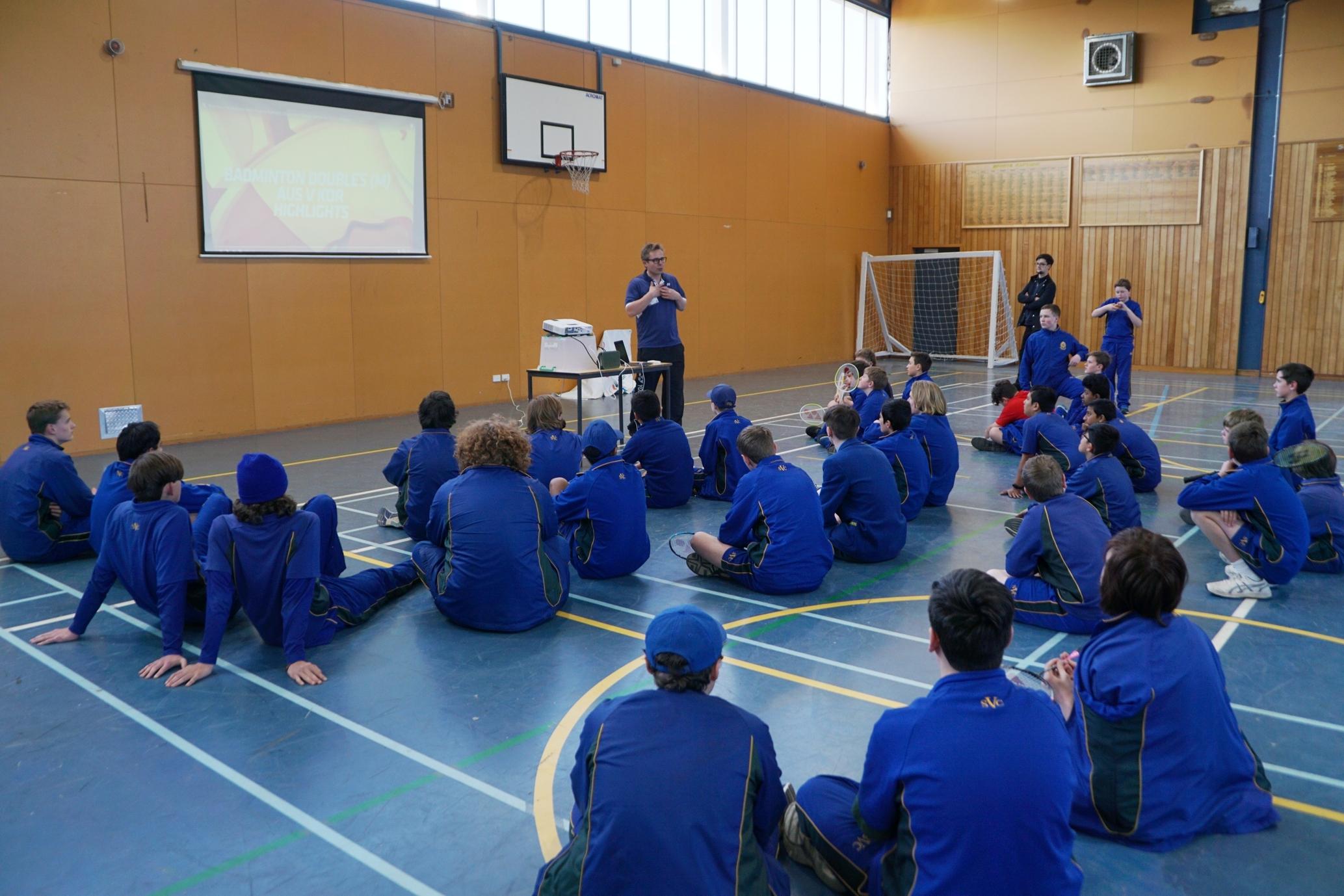 Mr Lasse Bundgaard teaching the theory of the game.