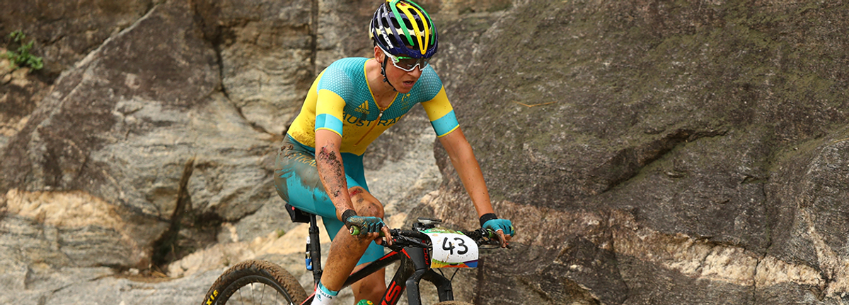 Scott riding at the Rio Olympics